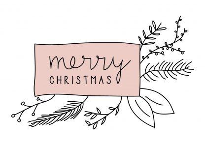 Waldpapier Weihnachtskarte Merry Christmas