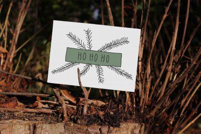 Waldpapier Weihnachten Karte Ho Ho Ho
