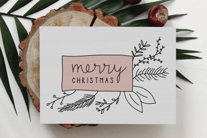 Waldpapier Weihnachten Merry Christmas Karte